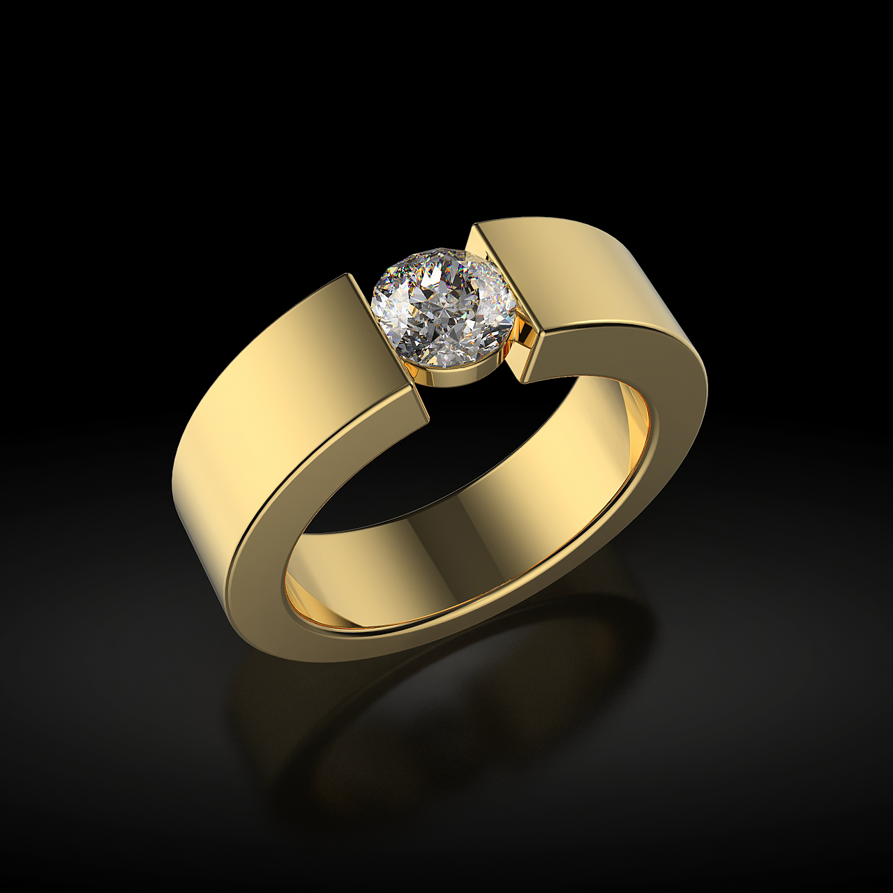 Перстень с бриллиантом