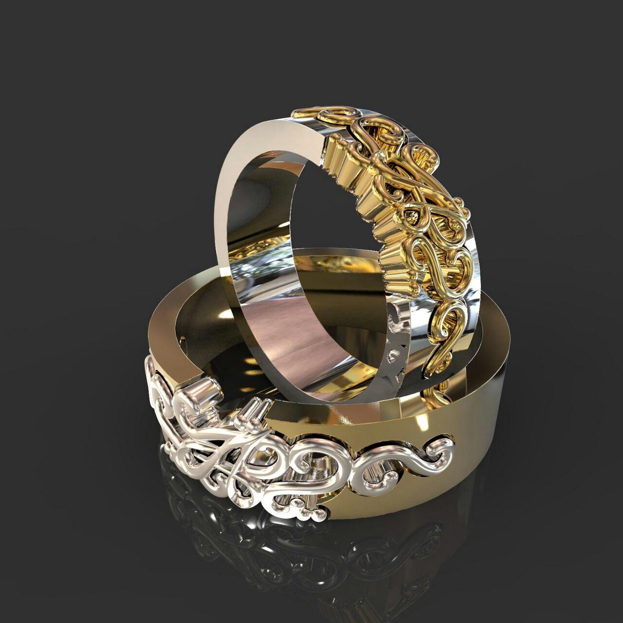 Обручальные кольца с символом